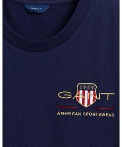 Gant Woman Archive Shield T-shirt Evening Blue