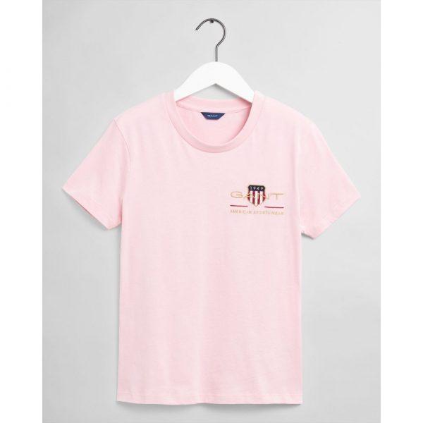 Gant Woman Archive Shield T-shirt Preppy Pink