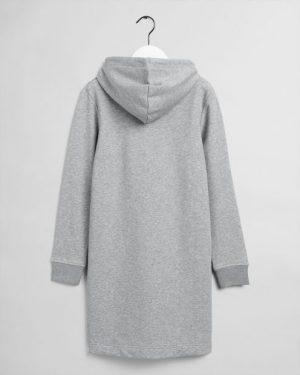 Gant  Woman Archive Shield Hoodie Dress Grey Melange