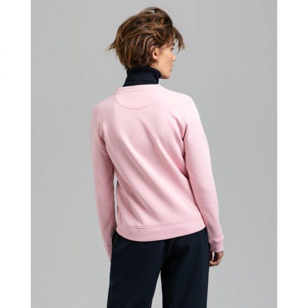 Gant Woman Archive Shield C-Neck Preppy Pink