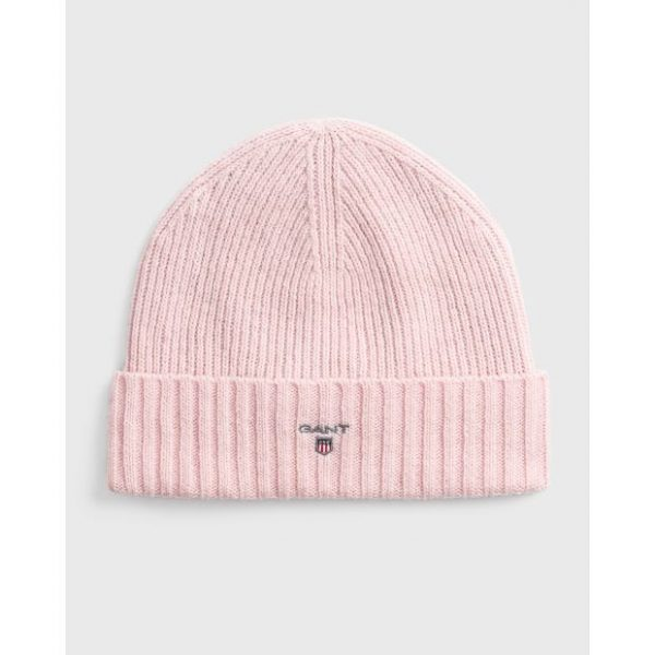 Gant Wool Lined Beanie Light Pink