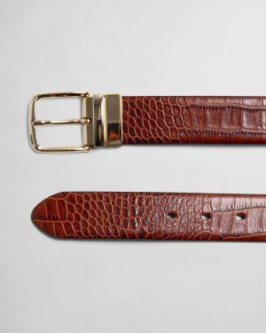 Gant Woman Reversible Croco Belt Clay Brown