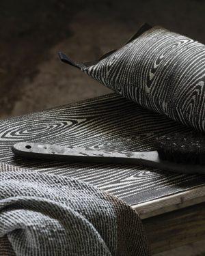 Lapuan Kankurit Viilu Sauna Pillow Black-Linen