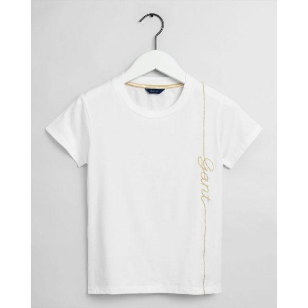 Gant Teen Girls Script T-shirt White