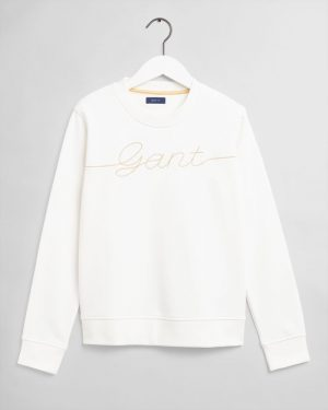 Gant Teen Girls Script Sweatshirt Eggshell.