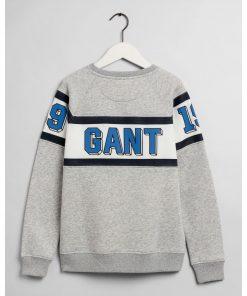 Gant Teen Boys Varsity Crew Neck Light Grey Melange