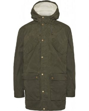 Knowledge Cotton Apparel Nordic Legacy Expedition Parka Forrest Green