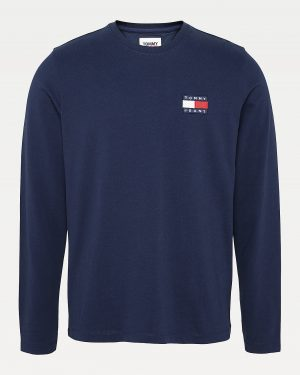 Tommy Jeans Tommy Badge Longsleeve Tee Twilight Navy