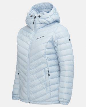 Peak Performance Frost Down Hood Jacket Women Ice Glimpse