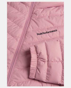 Peak Performance Frost Down Hood Jacket Women Frosty Rose