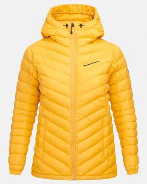 Peak Performance Frost Down Hood Jacket Women Blaze Tundra
