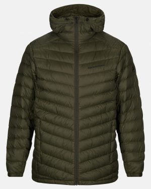 Peak Performance Frost Down Hood Jacket Men Forest Night