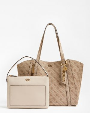 Guess Naya Front Zip Shopper Latte