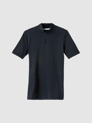 Calvin Klein Silicone Logo Smock Neck Black