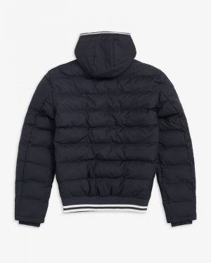 Fred Perry Hooded Insulated Jacket Black