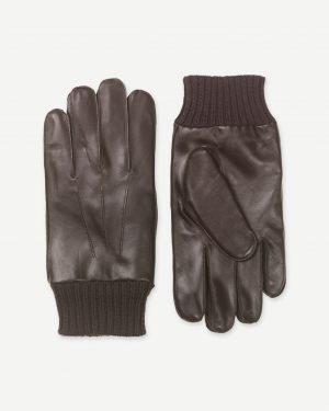 Samsoe & Samsoe Hackney Gloves Dark Brown
