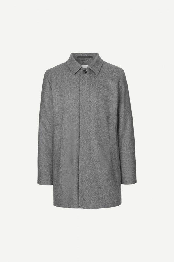Samsoe & Samsoe Kenpo X Coat Grey Melange