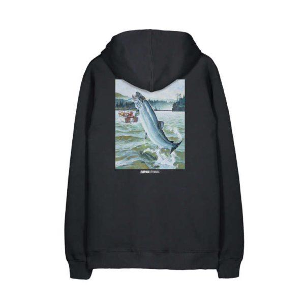 Makia x Rapala Silverback Hooded Sweatshirt Black
