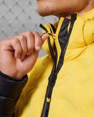 Superdry Radar Quilt Fuji Jacket Cyber Yellow