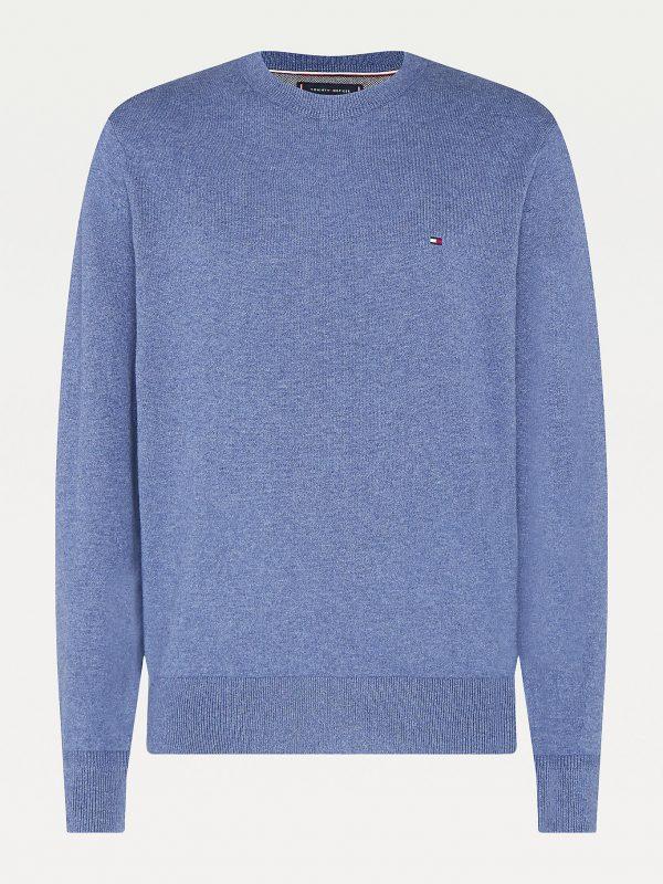 Tommy Hilfiger Pima Cotton/Cashmere Sweater Faded Indigo Heather