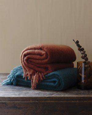Lapuan Kankurit Saaga Uni Mohair Blanket Cinnamon