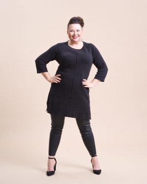 STI Meera Knit Tunic Black