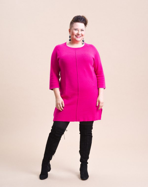 STI Meera Knit Tunic Hot Pink