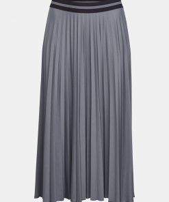 Esprit Plisee Skirt Gunmetal