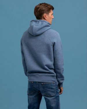Gant Lock Up Hoodie Denim Blue Melange