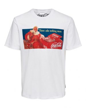 Only & Sons Coca Cola Xmas T-shirt White