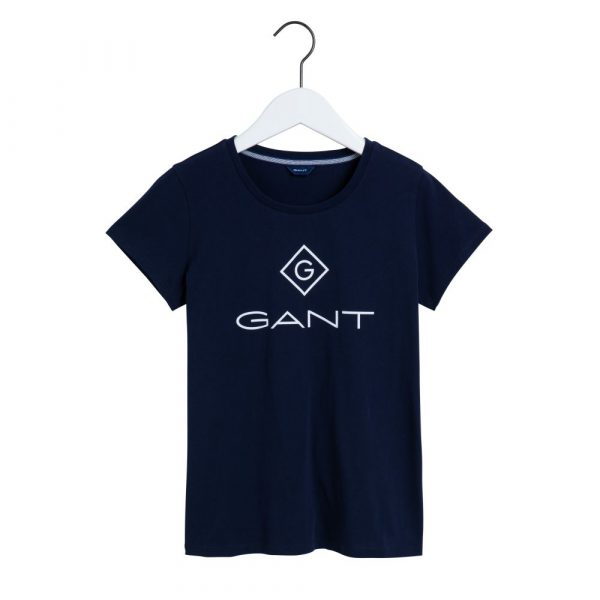 Gant Lock Up T-shirt Evening Blue