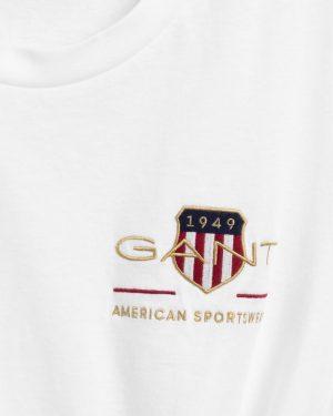 Gant Woman Archive Shield T-shirt White