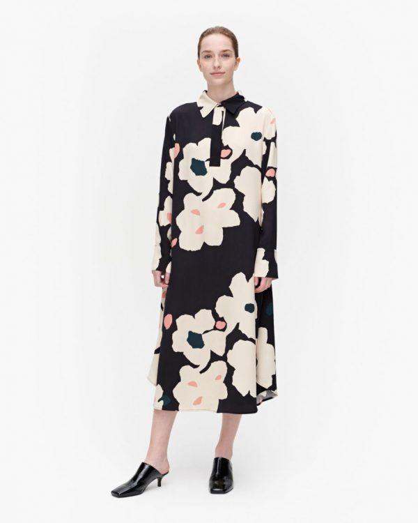 Marimekko Arkussiini Liito Dress Black/Beige