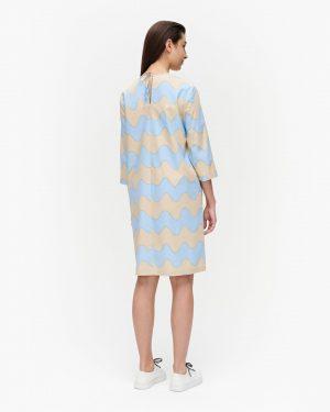 Marimekko Havaittu Pikku Lokki Dress Sand/Light Blue