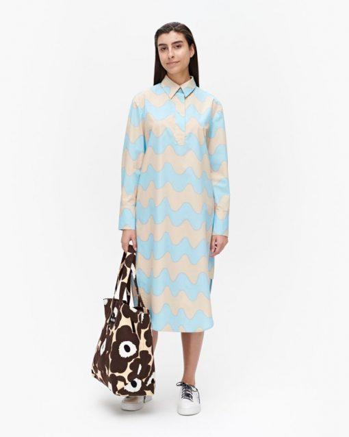 Marimekko Kuuluminen Pikku Lokki Dress Sand/Light Blue