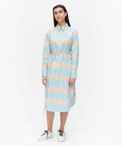 Marimekko Kuuluminen Pikkiu Lokki Dress Sand/Light Blue