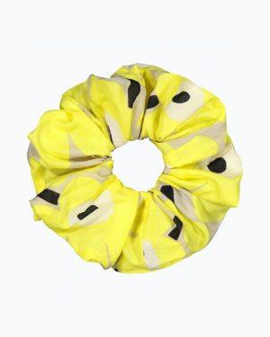 Marimekko Ruusunkukka Unikko Scrunchie Yellow