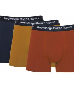 Knowledge Cotton Apparel Maple 3 Pack Underwear Rust