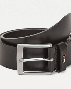 Tommy Hilfiger Flag Leather Belt Gift Box Black