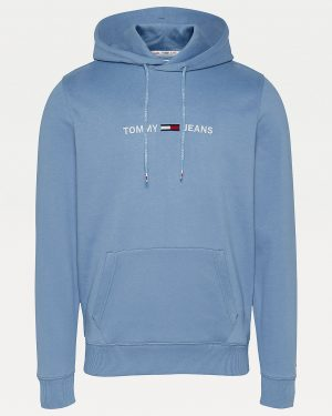 Tommy Jeans Straight Logo Hoodie Men Vintage Denim