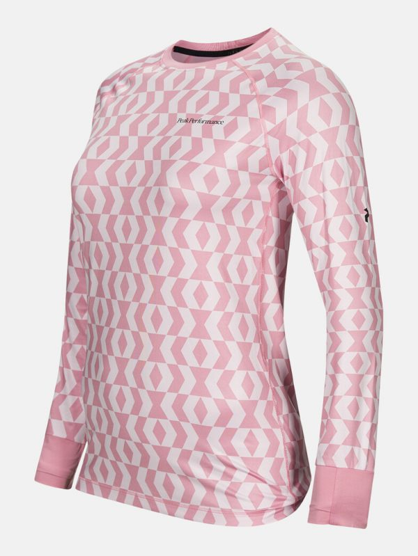 Peak Performance Spirit Print Crew Pink Pattern