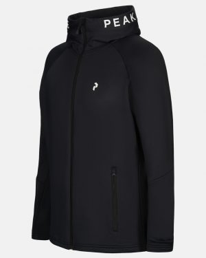 Peak Performance Rider Zip Hood Men Black