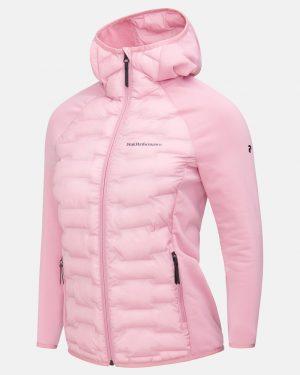 Peak Performance Argon Hybrid Hood Jacket Women Frosty Rose