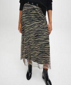 Calvin Klein Zebra Skirt Irish Cream/Black