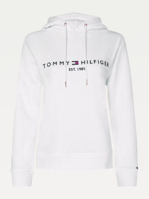 Tommy Hilfiger Essentials Logo Hoody Women White