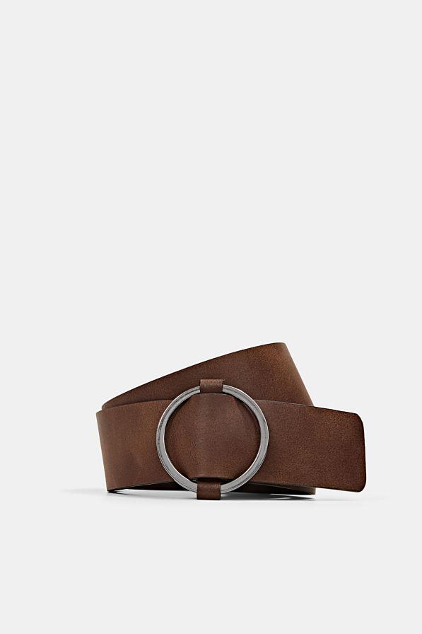Esprit Leather Belt Rust Brown