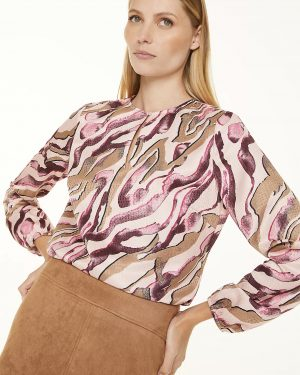 Comma, Blouse Pink Zebra Lines