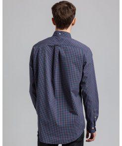 Gant Broadcloth Check Shirt Marine
