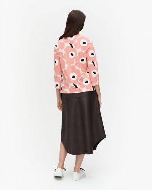 Marimekko Koettu Pieni Unikko Jersey Shirt Beige/Black/Rose