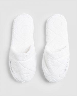 Gant Home Organic G Slippers White